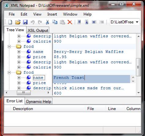 best xml editor free xml notepad