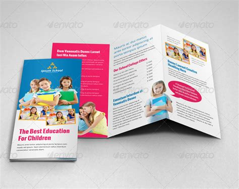 templates for school brochures school brochure 23 download in psd vector pdf