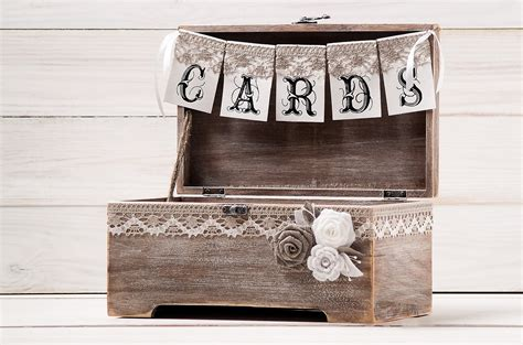 wedding card box ideas rustic rustic wedding card box holder with burlap and lace cards
