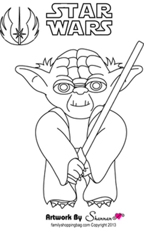star wars coloring page yoda easy yoda coloring pages