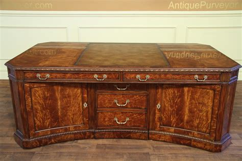 Leather Top Partners Desk Amd File For The Traditional High End Office Desk