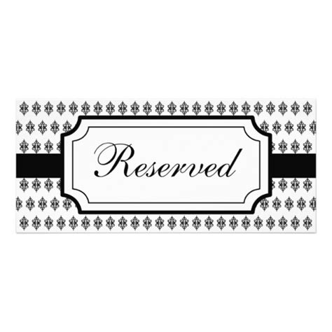 reserved seating signs template reserved table card template pictures to pin on