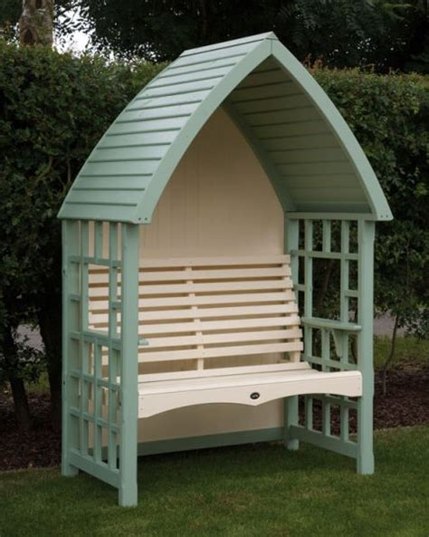 Garden Arbor Seat Uk Gardens Two Seater Crafted And Light Green