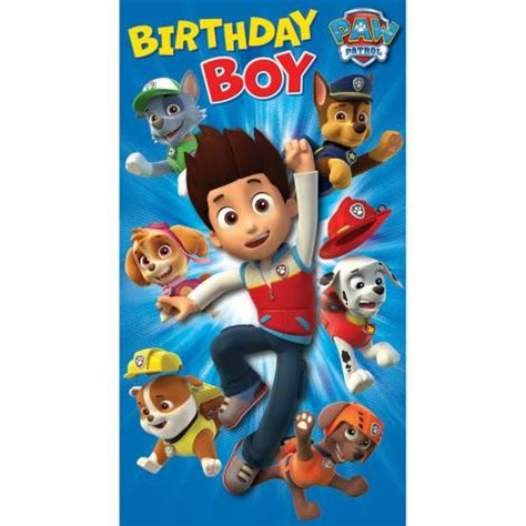 printable birthday card paw patrol paw patrol greeting cards ebay