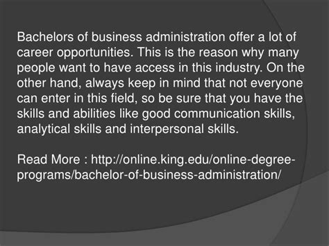 how to write bachelor of business administration on resume bachelors of business administration opportunities