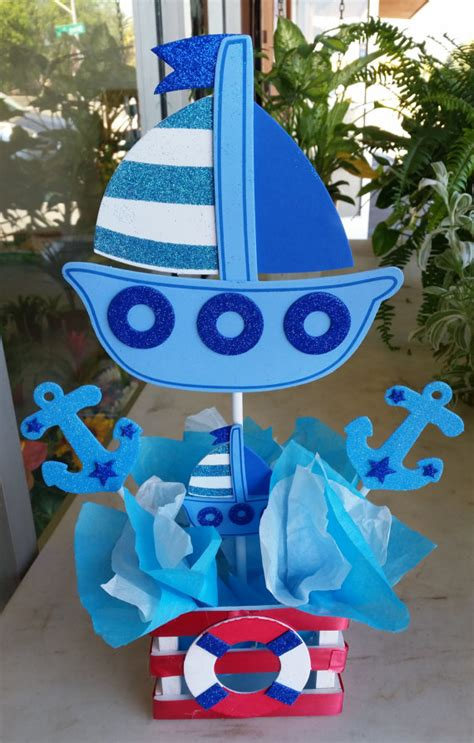 sailor themed centerpieces adorable blue nautical sailor themed by bettysgiftsandrafts decor ideas