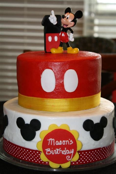 mickey mouse st birthday cake  mason mickey mouse