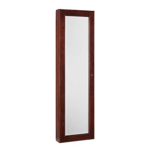 sei jewelry armoire 5 sei wall mount jewelry mirror cherry jewelry armoires