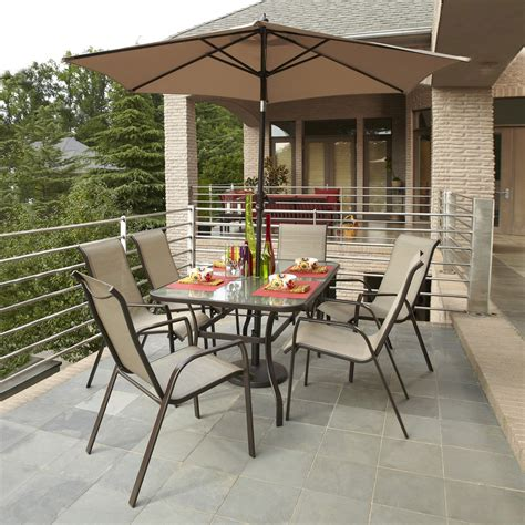 Lowes Patio Dining Sets Garden Treasures Glen Park 7 Outdoor Dining Set Lowe S Canada