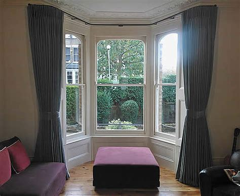 curtain fittings for bay windows made to measure curtains north london