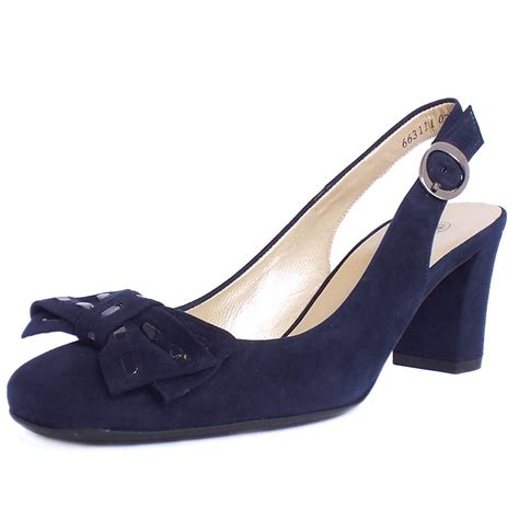 slingback sneakers kaiser presto navy suede slingback court shoes