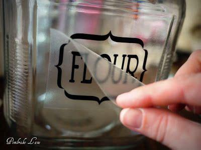 pembroke lane labeled glass pantry jars  vinyl