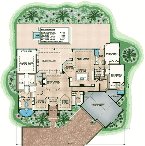 high end floor ls high end florida house plan 66379we architectural