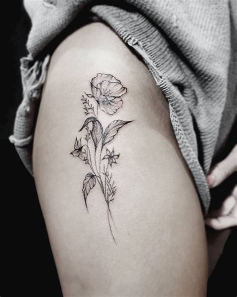 flower tattoo on thigh 162 best images about zwaluw on