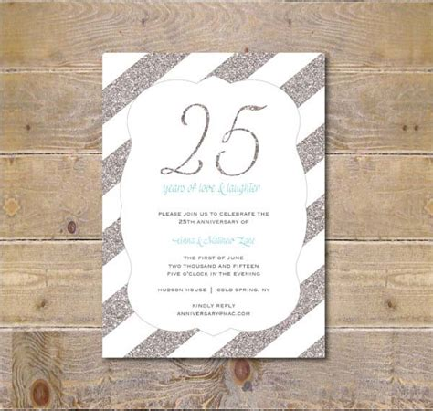 25th birthday invitation templates 10 anniversary invitation templates premium and free