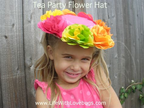 How To Make Tissue Paper Hats - tissue paper flower hats with lovebugs