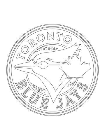 coloriage logo des blue jays de toronto coloriages  imprimer gratuits