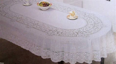 Oval Table Cloth by 150x225 Cm Oval White Vinyl Tablecloth Sheet Flower