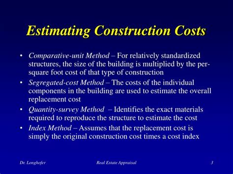 estimating building costs ppt the cost approach powerpoint presentation id 171781