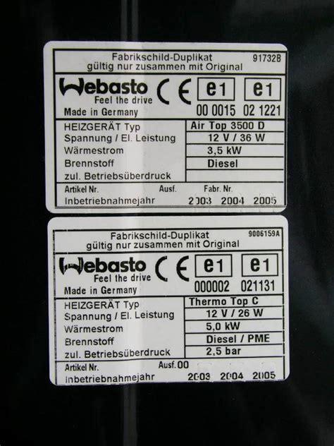 Vw T5 Webasto Aufkleber by Nachr 252 Stung Standheizung T5 Cing Vwbusforum Ch