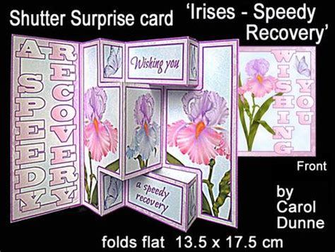 speedy recovery card template shutter card irises speedy recovery
