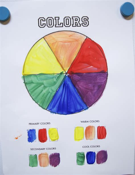 color wheel for c color activity 3 make a color wheel let s learn
