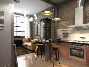 Masculine Sofas three dark colored loft apartments with exposed brick walls