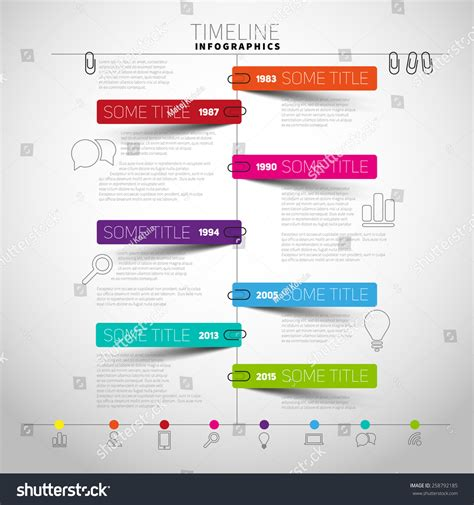 timeline report template vector timeline infographic report template with paper