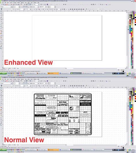 corel draw x6 vs x5 normal vs enhanced view coreldraw graphics suite x6