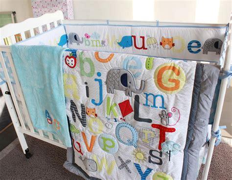 abc characters newborn baby boy crib bedding set cot set