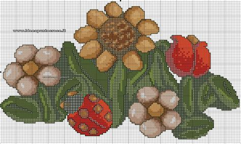 fiori thun schema fiori thun punto croce crafts cross stitch