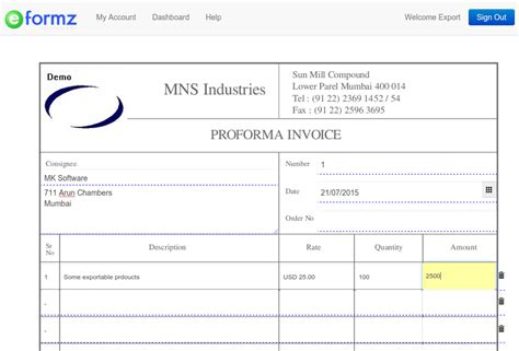 format export video proforma invoice format for export robinhobbs info