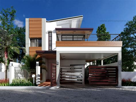 My Two Bedroom Story Modern House Design Series Mhd 2014012 Pinoy Eplans