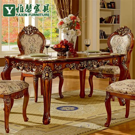 vintage wood dining table and chairs xin ya european antique wood dining table and chairs