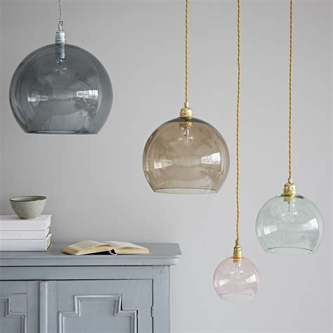 coloured glass pendant lights