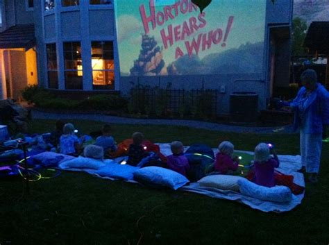 backyard projectors backyard kids movie night outside with movie projector