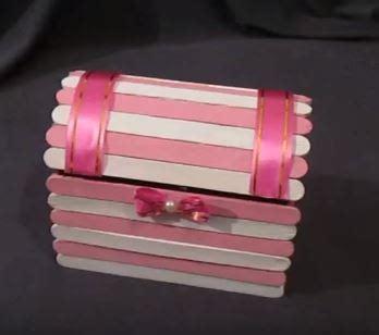 cofre con palitos de paleta paso a paso haz bonitos cofres con palitos de helado y cart 243 n