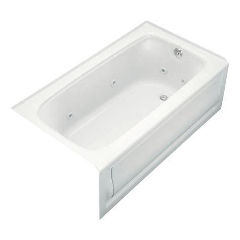 kohler bathtub kohler bancroft 5 ft acrylic right drain rectangular alcove whirlpool bathtub in