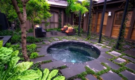 hot tub pictures backyard 48 awesome garden hot tub designs digsdigs