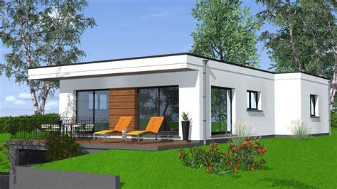 Toit Plat Maison by Construction Maison De Plain Pied Maisons Begi