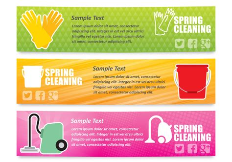 spring cleaners spring cleaning banners download free vector art stock
