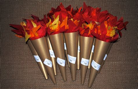 How To Make A Paper Torch - olympics birthday this beautifully imperfect
