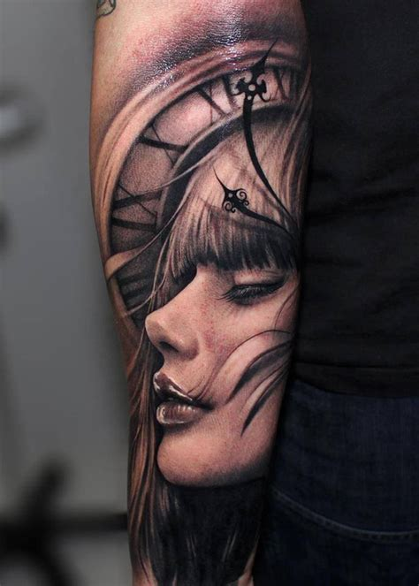 clock face tattoo designs 3d design and ideas inspirationseek