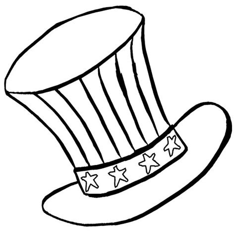 30 Patriotic Coloring Pages Coloringstar Usa Hat Coloring Pages Usa