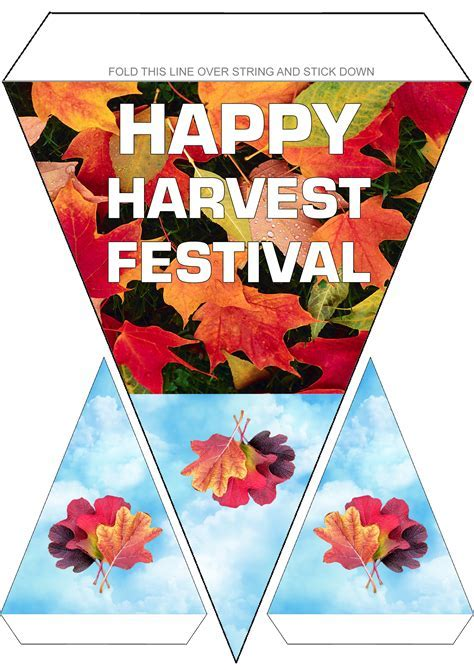 Happy Harvest Festival Bunting   Rooftop Post Printables