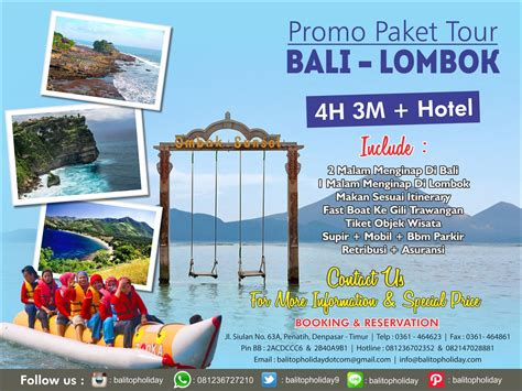 Paket Wisata Bali 4 Hari 3 Malam Paket Tour Bali Lombok 4 Hari 3 Malam Hotel Promo