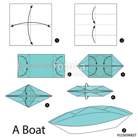 How To Make Origami Boats - origami boat step by step comot