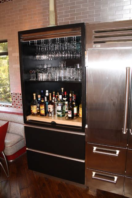 Kitchen Liquor Cabinet | wenge liquor cabinet modern kitchen los angeles by