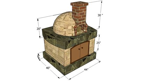 backyard brick oven plans wood brick oven design pizza oven free plans howtospecialist how to build step