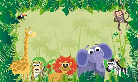 Safari Themed Giveaways - jungle safari themed party backdrop 3ft x 5ft instant